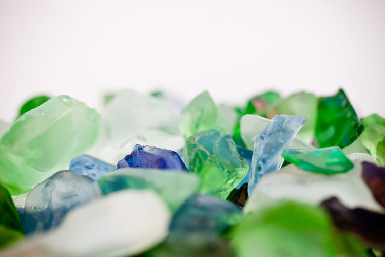 Underwater seaglass detail shots