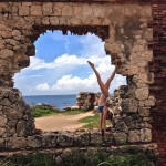 the ruins aguadilla bikini handstand