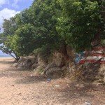 puerto rico secret spot painted flag